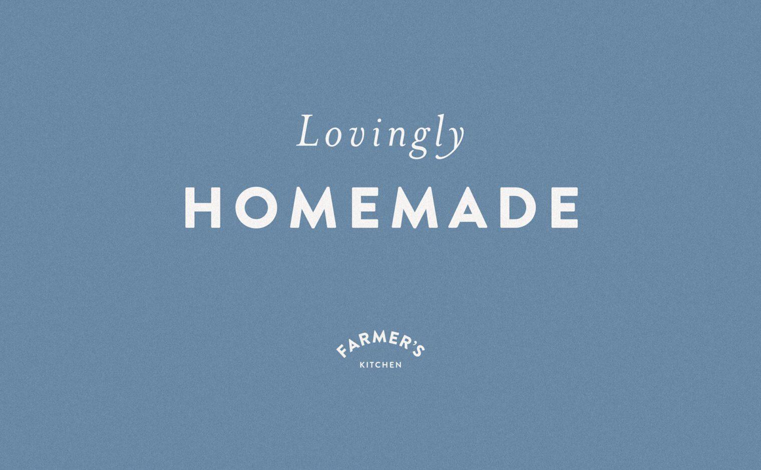 Pinfold Farm Shop - Lovingly Homemade typography