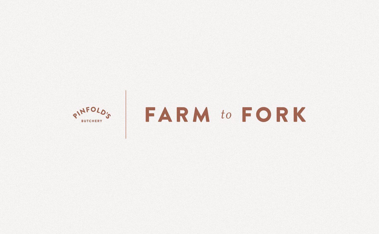 Pinfold Farm Shop farm to fork typography