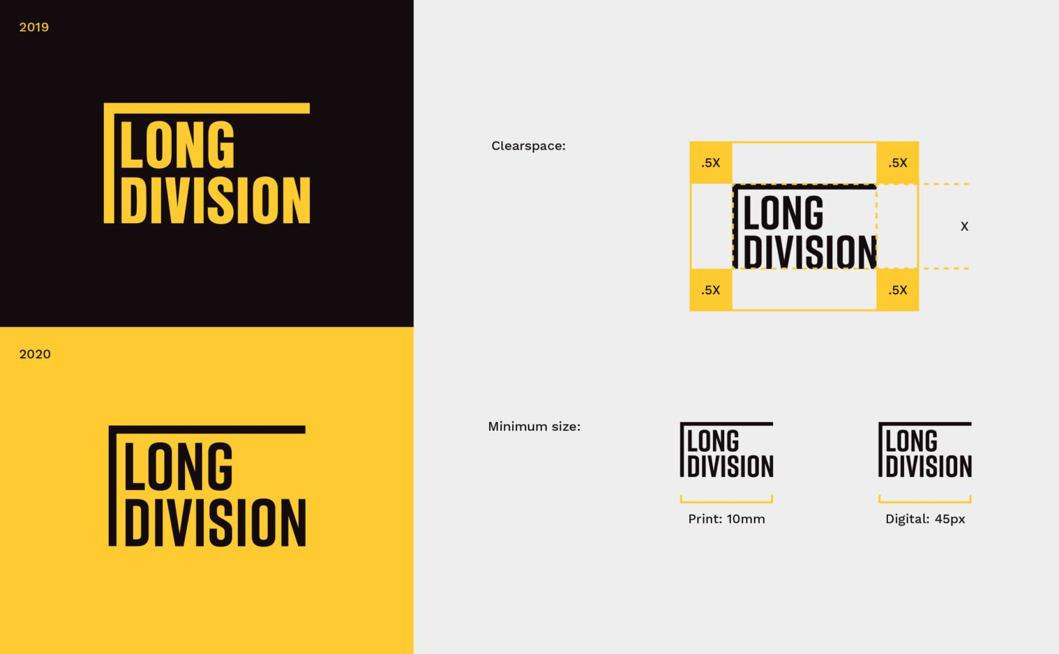 Long Division logo guidelines