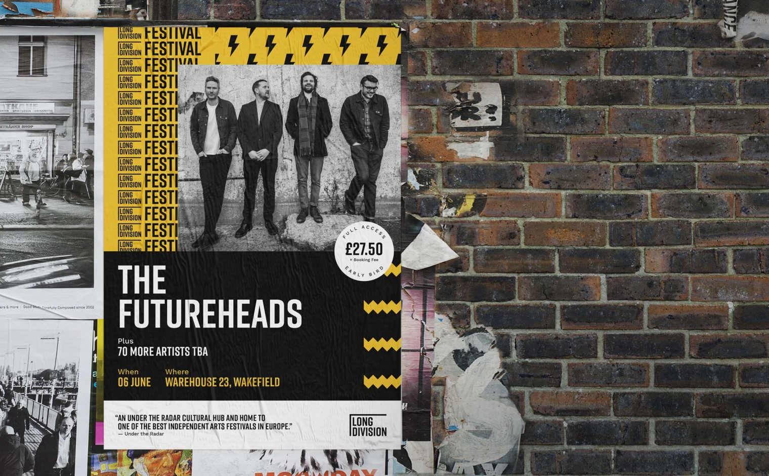 Long Division Festival poster for The Futureheads