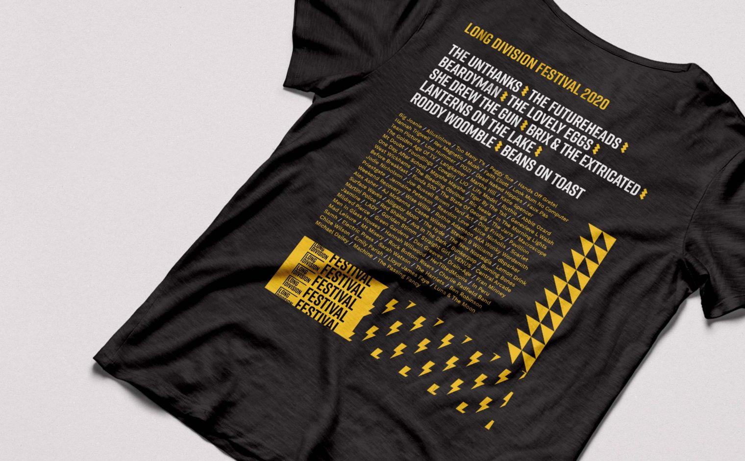 Long Division Festival t-shirt design